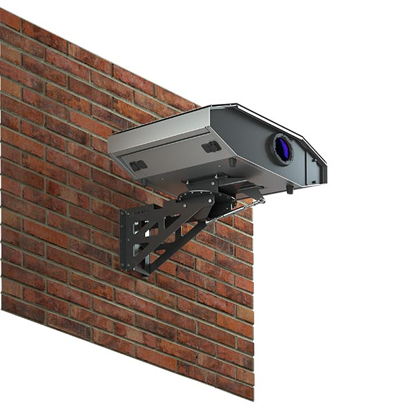 Wireless outdoor projector