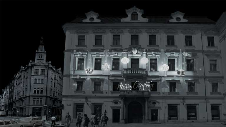 xmas projection mapping